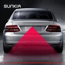 SUNKIA автомобильная и мотоциклетная Лазерная противотуманная фара заднего потепления для KIA hyundai ford mazda VW Skoda Suzuki с новыми узорами