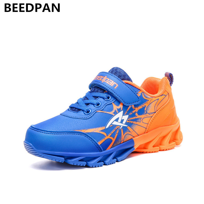 Beedpan 2018 New Spring Autumn Kids Shoes Boys Sports Boys Shoes Kids Children Casual Shoes Brand Leather Baby Toddler Sneakers 2017 babyfeet spring and autumn children sneakers baby girls child toddler shoes breathable fashion pu leather boys sports shoes