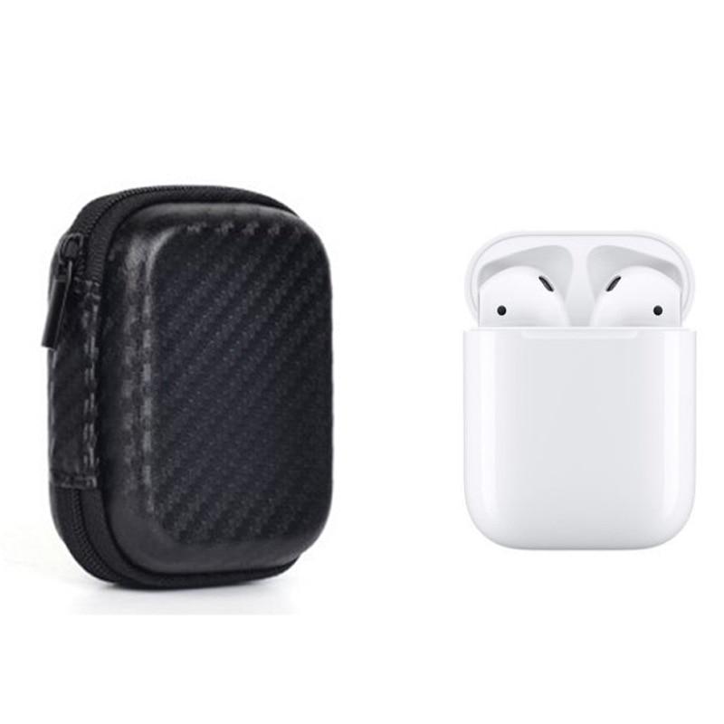 Cas pour AirPods EVA Antichoc Portable Housse De Protection Sac avec Mousqueton Porte-clés pour Apple AirPods Écouteurs