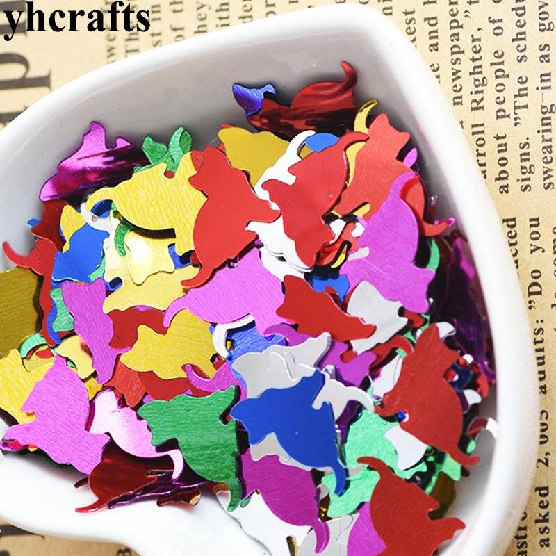 20gram/Lot 12x14mm Cat Sequins.Craft Material Kindergarten Arts And Crafts Intelligence Creative Activity Item Kids Handy Work