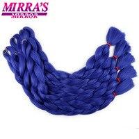 Mirra's Mirror 82inches Hair Extension For Braids Crochet Braid Hair Synthetic Braiding Hair Pure Color Pink Yellow Blue
