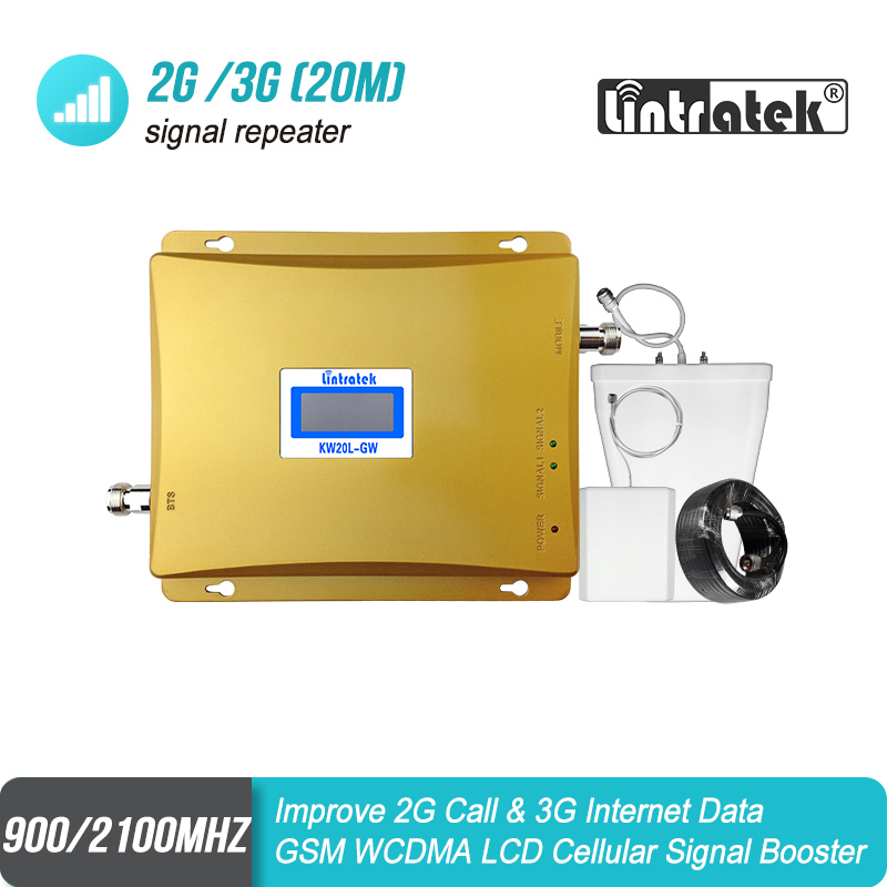 LCD Display GSM 900mhz 3G 2100mhz Dual Band Mobile Signal GSM Repeater 900 UMTS 2100 Cell