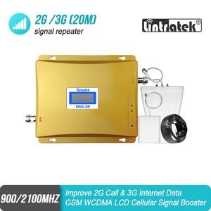 Image 1 - شاشة الكريستال السائل GSM 900 mhz 3G 2100 mhz المزدوج الفرقة إشارة المحمول GSM مكرر 900 UMTS 2100 هاتف محمول الداعم celular مكبر للصوت 51