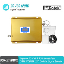 LCD Display GSM 900mhz 3G 2100mhz Dual Band Mobile Signal GSM Repeater 900 UMTS 2100 Cell Phone Booster celular Amplifier 51