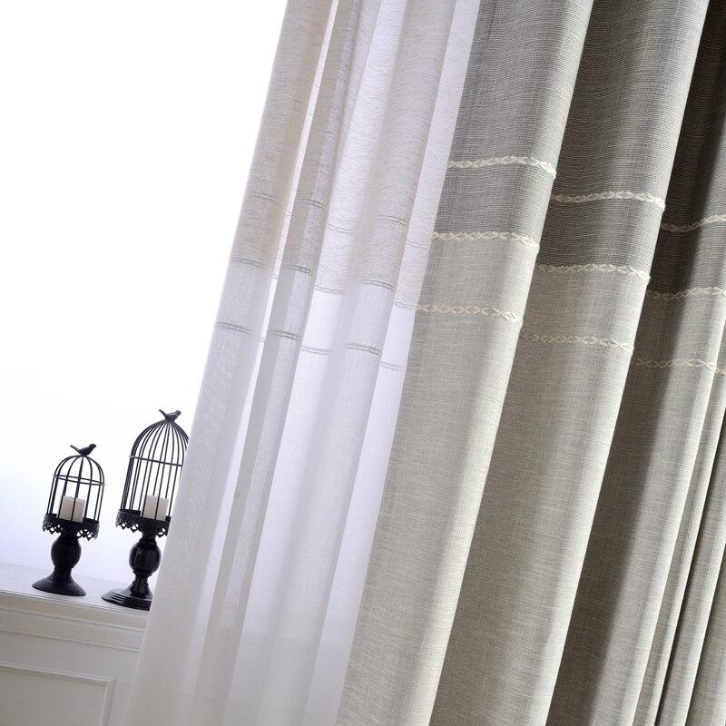 Aliexpress Japan Stil Jacquard Dicke Faux Leinen Vorhnge Fr Schlafzimmer Fenster Wohnzimmer Halb Blackout Kche Tll Von