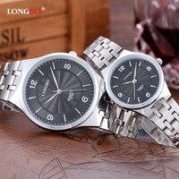 LONGBO Waterproof Ultra Thin Couple Quartz Watch Men Steel Watch Fashion Ladies Watch Wholesale 8776A