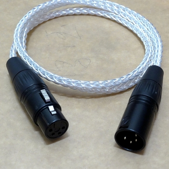 1Meter 8 cores 4-Pin XLR Balanced Audio Male to Female Silver Plated Headphone Extension Cable Headphone Upgrade Cable