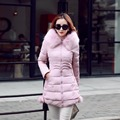 2016 Fashion Faux Fur Collar Warm Coats Woman Long Outerwear Sashes Thicken Parkas Cotton Padded Jacket For Women Winter Coat