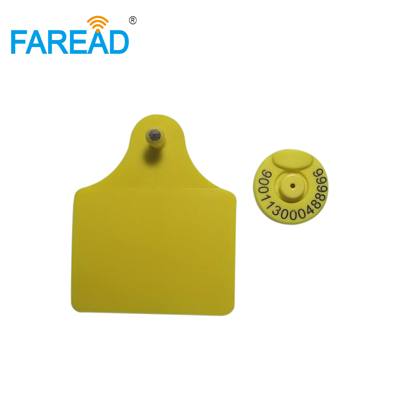 Free Shipping X50pcs 134.2KHZ FDX-B RFID Visual Tag Animal Ear Tag For Sheep Cow Pig Identification