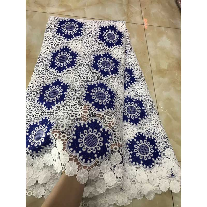 2018 Latest French Mesh Nigerian Cotton Lace Fabric High Quality Stones Milk silk African Laces Fabric