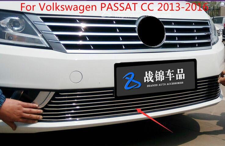 Lane Légende Cas Pour Volkswagen Passat CC 2013 2016 de Haute Qualité Calandre Autour de L'équilibre Racing Grills Garniture Accessoires dans Chrome Styling de Automobiles et Motos