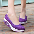 Fashion women shoes 2016 New Arrivals platform printing breathable mesh ladies cozy shoes