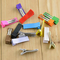 Free shipping , 100 pcs/lot , Partially Lined Alligator Clips, wholesale clips, Double Prong Clips, Hair Clips