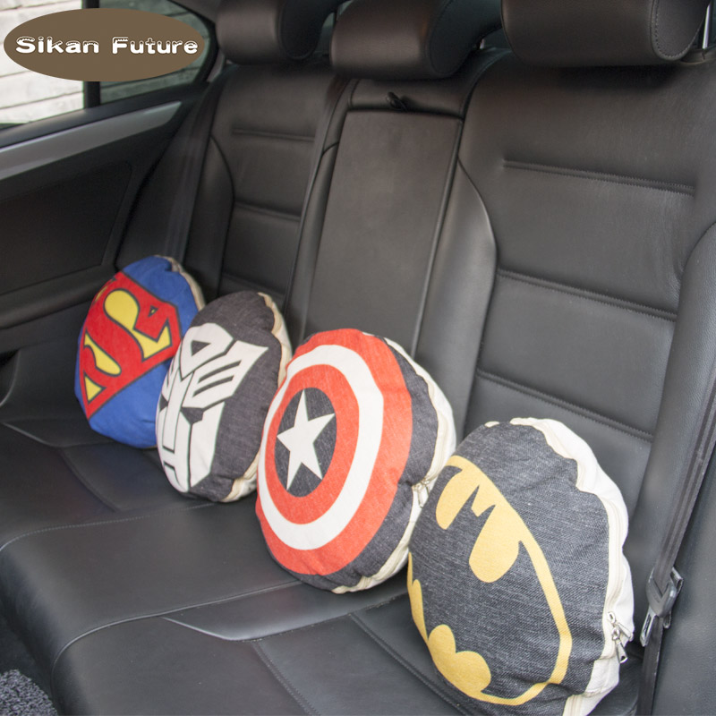 Sikan,Universal Use Car Cushion Memory Cotton Soft Fabric Foam Neck Lumbar Pillow Support Suit Automotive Supplies