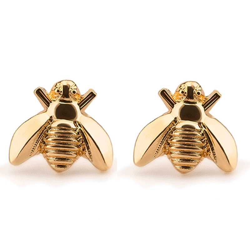 Stud Cute Tiny Bee Earring Jewelry Gold/Silver Plated Honey Bee Earrings Stud Unique Earings Fashion Jewelry For Women
