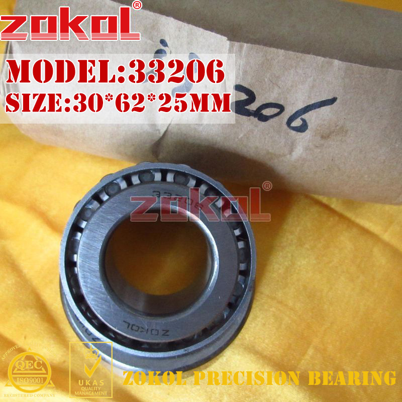 ZOKOL bearing 33206 3007206E Tapered Roller Bearing 30*62*25mm na4910 heavy duty needle roller bearing entity needle bearing with inner ring 4524910 size 50 72 22