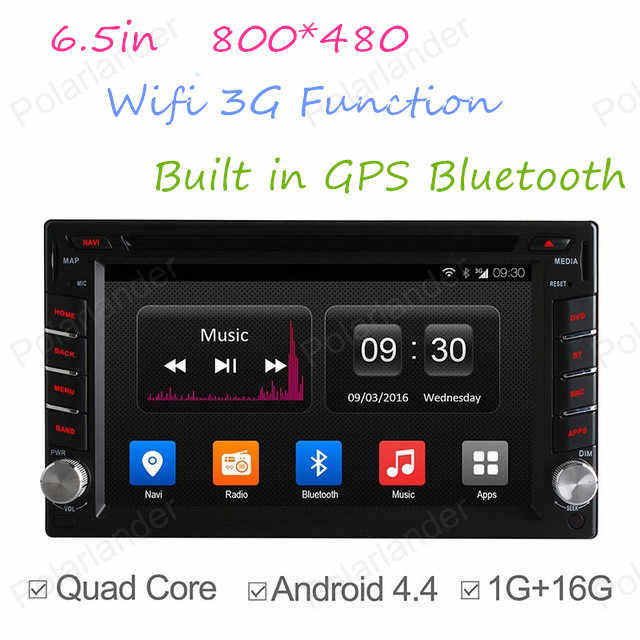 Autoradio 6.5in Quad Core coche DVD radio reproductor de cassette Radio de coche 2 Din GPS NAVI RADIO BT 800*480 DAB + TPMS DVR