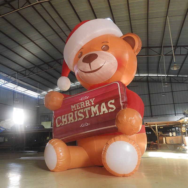купить Inflatable Bear Inflatable Toy Decoration&Advertisement With LED Light Cartoon Model Christmas Gifts Present недорого