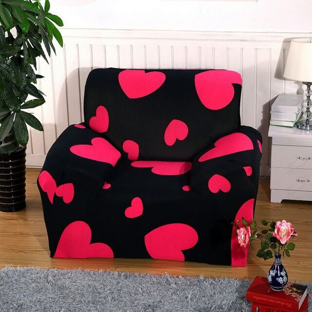 buy flower sofa cover slipcover elastic. Black Bedroom Furniture Sets. Home Design Ideas