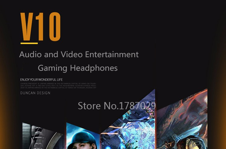 Best Computer Gaming Headset Headband with Microphone Mic XIBERIA V10 Heavy Bass Stereo Game Headphone Light for PC Gamer (9)