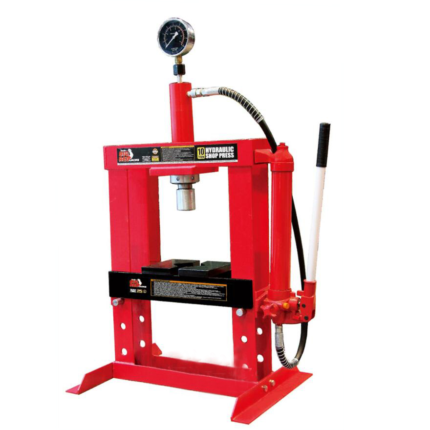 10 Ton Hydraulic Shop Press With Gauge, Table Type
