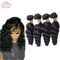 Brazilian Loose Wave Virgin Hair 4 Pcs Brizilian Virgin Hair Loose  Curly  Human Hair Weaves Brazilian Loose Curly Hair