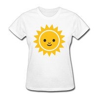 Woman Emoji Sun Slime Face Funny Emoji Faces Cool Short Sleeve Tshirts Cute White