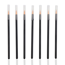 1000PCS/Pack Disposable Makeup Brushes Swab Microbrushes Eyeliner Brush with Cover Individual Lash Removing Tools Lint Free