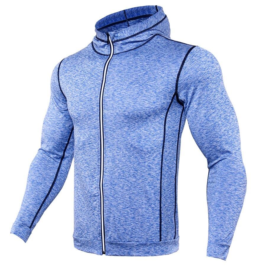 Top Quality Mens T Shirts Fashion 2017 Sweatshirts Men Fitness TShirt Compression Shirt Zipper Reflective Breathable Jersey MMA