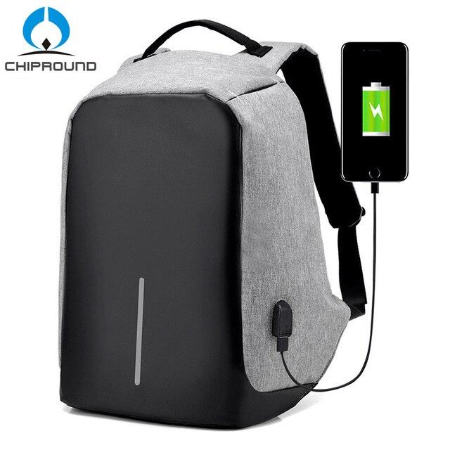 f12bbb16965b6 Anti Theft plecak USB ładowania Laptopa Mężczyzn Męskie Plecaki Szkolne Dla  Nastolatków Mochila torba Podróżna Dla