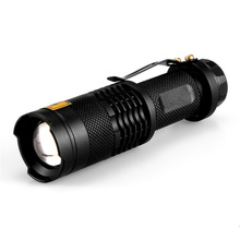 LED UV Flashlight 1 Mode SK68 Zoomable Lanterna Torch Luz 14500 Flashlight Purple Flashlight 395nm Light Camping Hunting hugsby p2 190 lumen 3 mode led flashlight 1 aa 1 14500