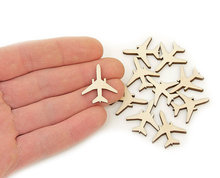 Plane Wood Craft Shapes Ornament Art Projects Craft Decoration Gift