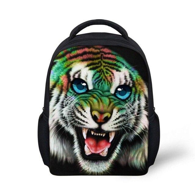 4cf9b6428d1b FORUDESIGNS Baby Boys School Backpacks 3D Animal Printing Backpack for  Children Small Kindergarten Tiger Lion Bookbag Mochila
