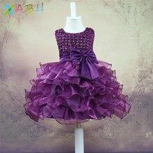 Купить с кэшбэком EAZII 0-2 Yrs Baby Girl Dress Princess Girls Tutu Dress Kids Clothes Baby Baptism 1st First Birthday Outfits vestido de bebes