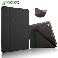 Smart Case For Ipad Air 2 Air 1 Five Shapes Ultra Thin PU Leather Flip Stand