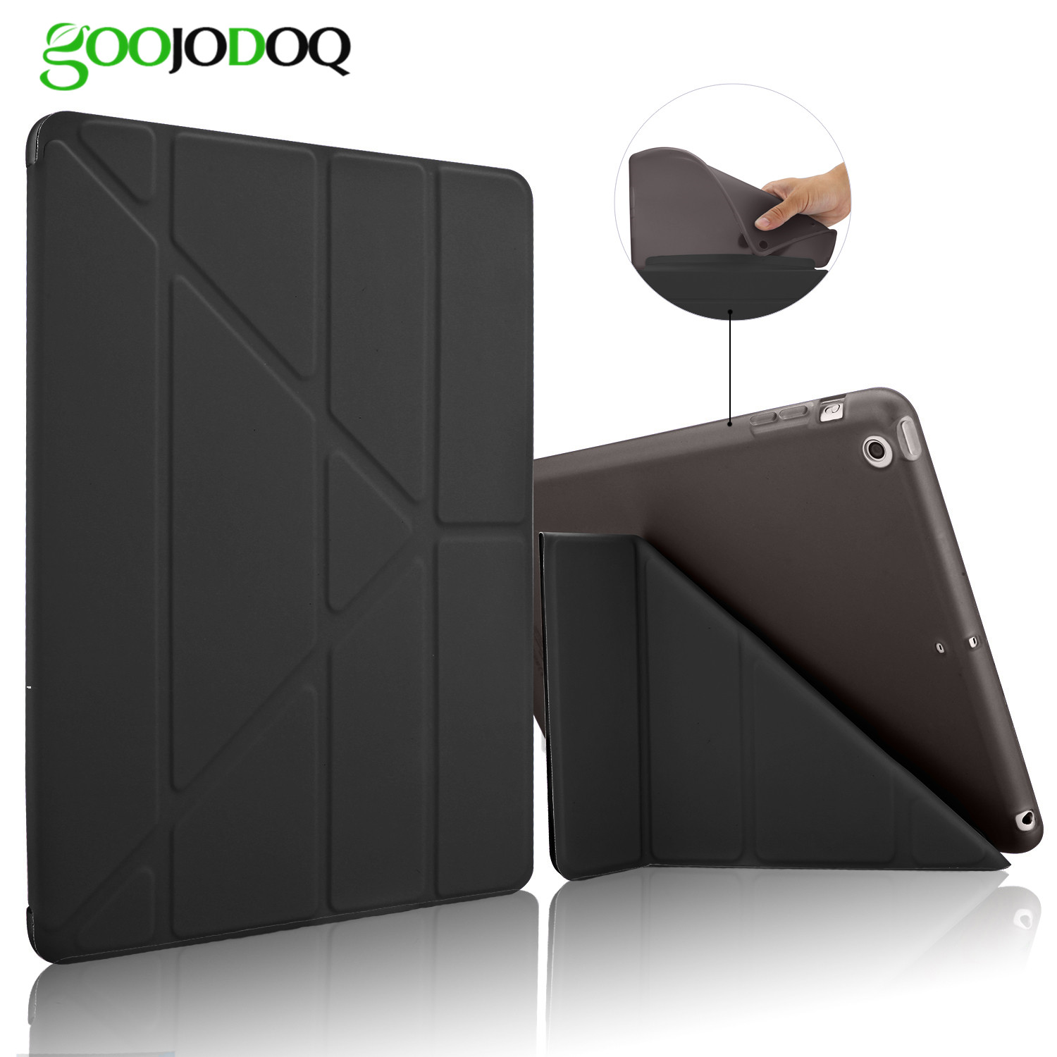 Case For Ipad Air 2/Air 1 Five Shapes Ultra Thin PU Leather Flip Stand TPU Soft Back Cover For iPad 5/6 Auto Sleep/Wake  A4243 for ipad air 2 air 1 case slim pu leather silicone soft back smart cover sturdy stand auto sleep for apple ipad air 5 6 coque