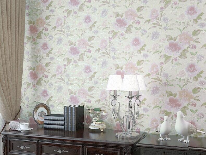 Modern Romantic Flower Wallpaper Living Room Wall Paper Pvc Wallpaper 3d Embossed Wall Papers Home Decor Vinyl Paper Roll