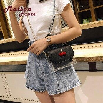 2018 Maison Fabre Fashion Women Hit color Transparent Crossbody Bags Shoulder Bag+Clutch Wallet алиэкспресс сумка прозрачная