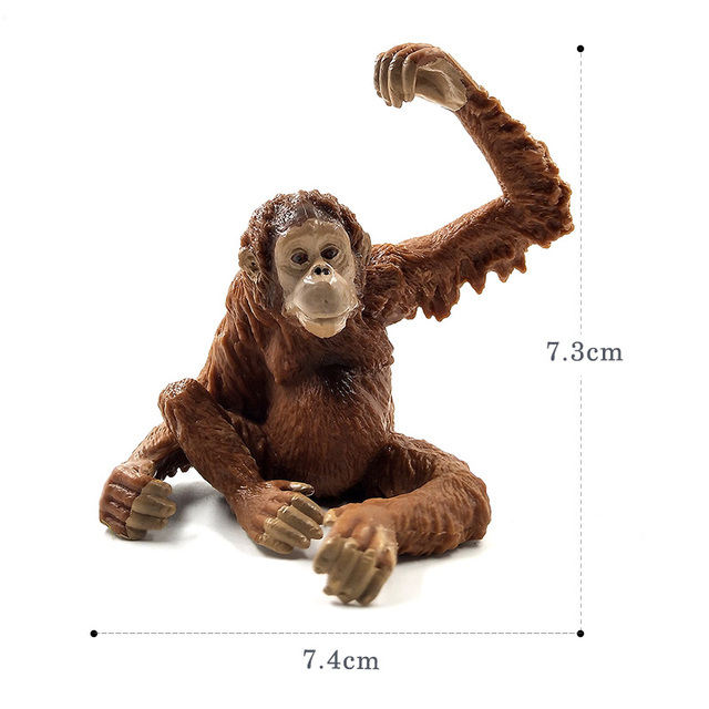 Sloth Orangutan Chimpanzee gibbon Monkey Animal model figurine home decor miniature fairy garden decoration accessories statue 3