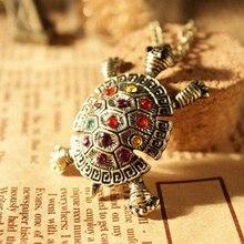 Новая мода подвеска в виде черепахи ожерелье Европейский Американский Винтаж милый свитер ожерелье Черепаха ювелирные изделия для женщин