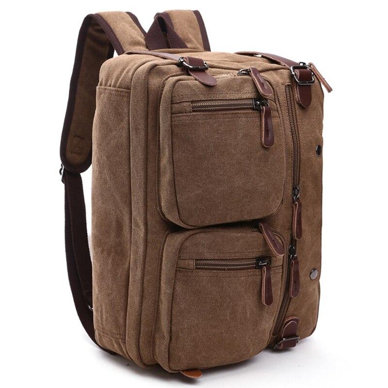 Hommes sacs à main ordinateur portable sacs à bandoulière hommes Messenger sac toile grande capacité Bolsa Masculina Vintage sacs de voyage femmes - 3