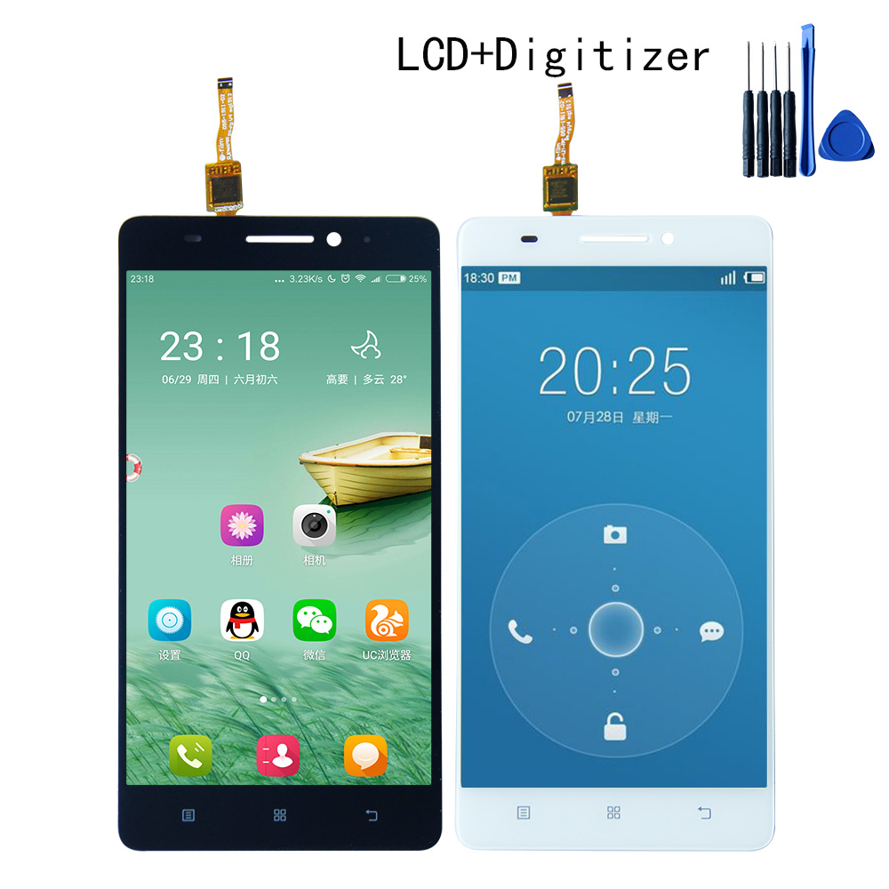 High Quality Touch Screen Digitizer LCD Display Assembly For Lenovo S8 A7600 A7600M 1280*720 Free shipping