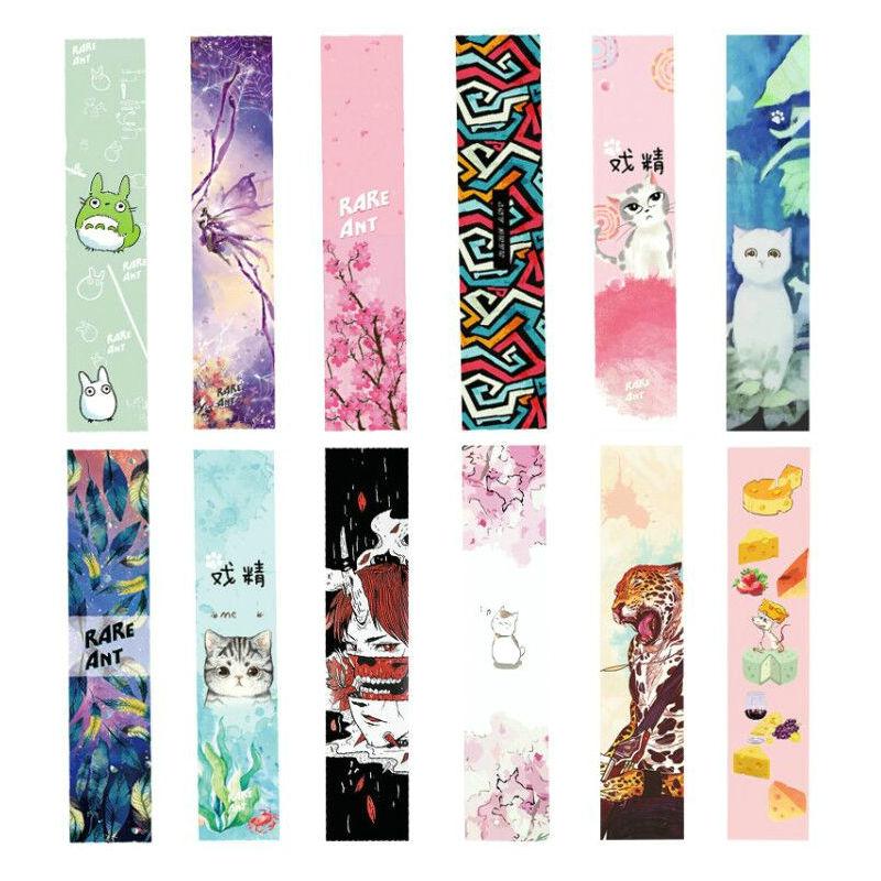 Free Shipping 1pcs 24*122cm Skateboard Longboard Griptape Deck Sandpaper Grip Tape Skateboard Sandpaper Long Board