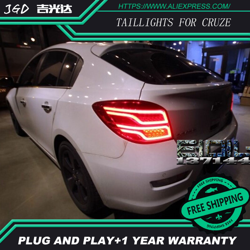 Car Styling tail lights for Chevrolet Cruze taillights LED Tail Lamp rear trunk lamp cover drl+signal+brake+reverse