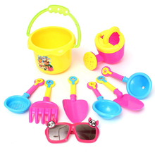 High Quality 9 Pcs/set Beach Sand Toys Set for Kids Beach Sand Spade Shovel Pit Play Kids W
