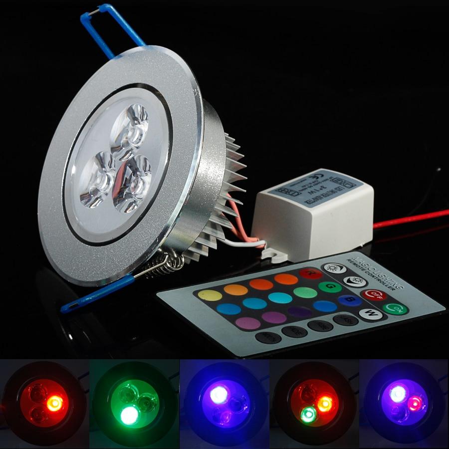 Home Lighting Down Lights Circuit On Rcd: 3W RGB Downlight AC85 265V Ceiling Downlight Epistar LED