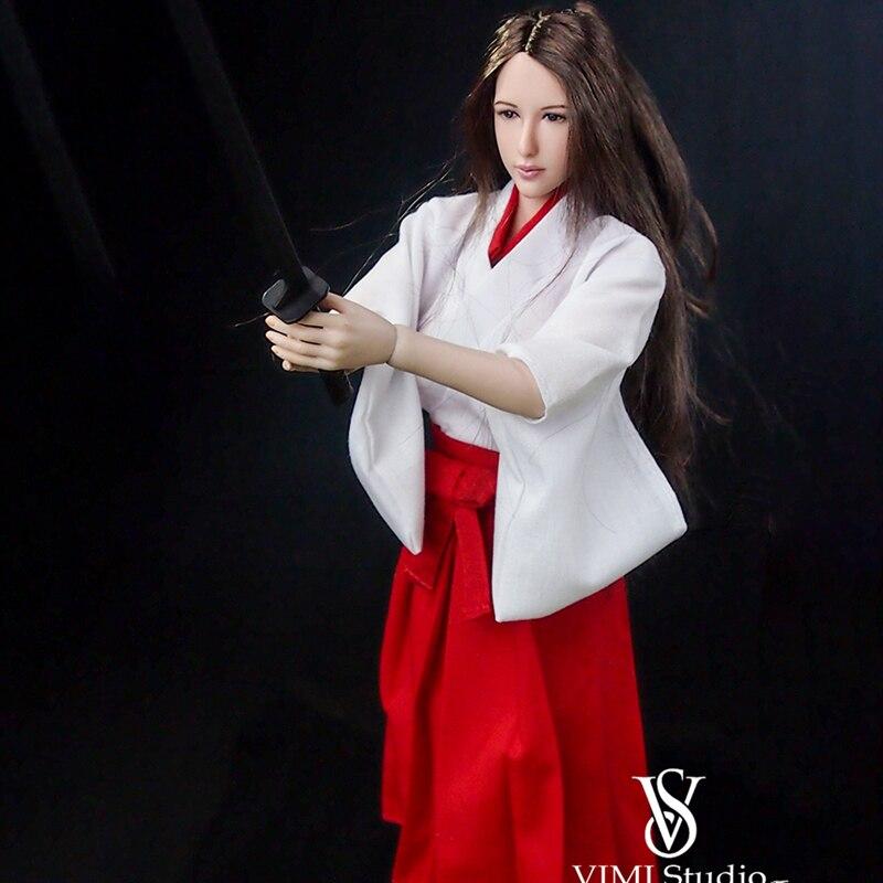 """1//6 Women Kimono Dress Japanese NAVY For 12/"""" Phicen Hot Toys Female Figure USA"""