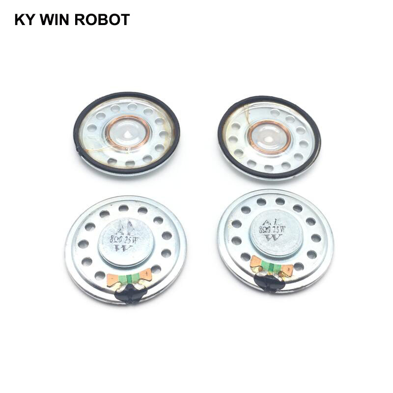 5pcs lot New Ultra thin transparent speaker 8 ohms 0 5 watt 0 5W 8R speaker Diameter 36MM 3 6CM thickness 5MM in Acoustic Components from Electronic Components Supplies