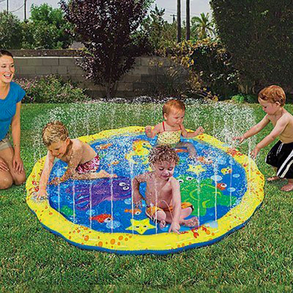 Swimming pool baby wading kiddie squirt fun pool outdoor for Garden pool mats