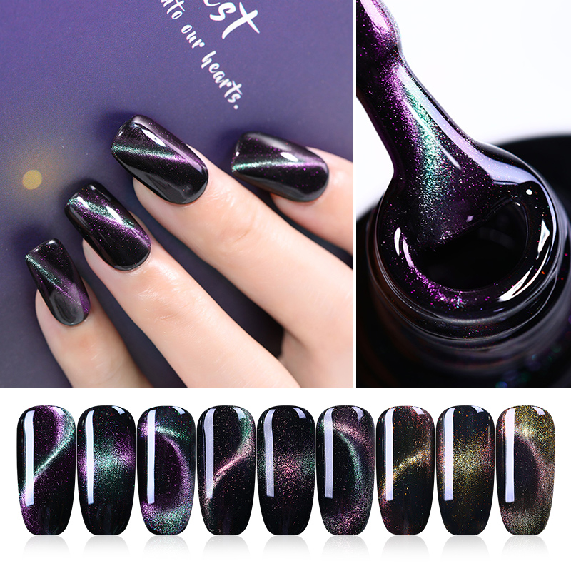 UR SUGAR Holographic Chameleon Cat Eye Magnetic Gel Polish 7.5ml Soak Off UV Gel Polish Nail Art Gel Varnish Black Base Needed